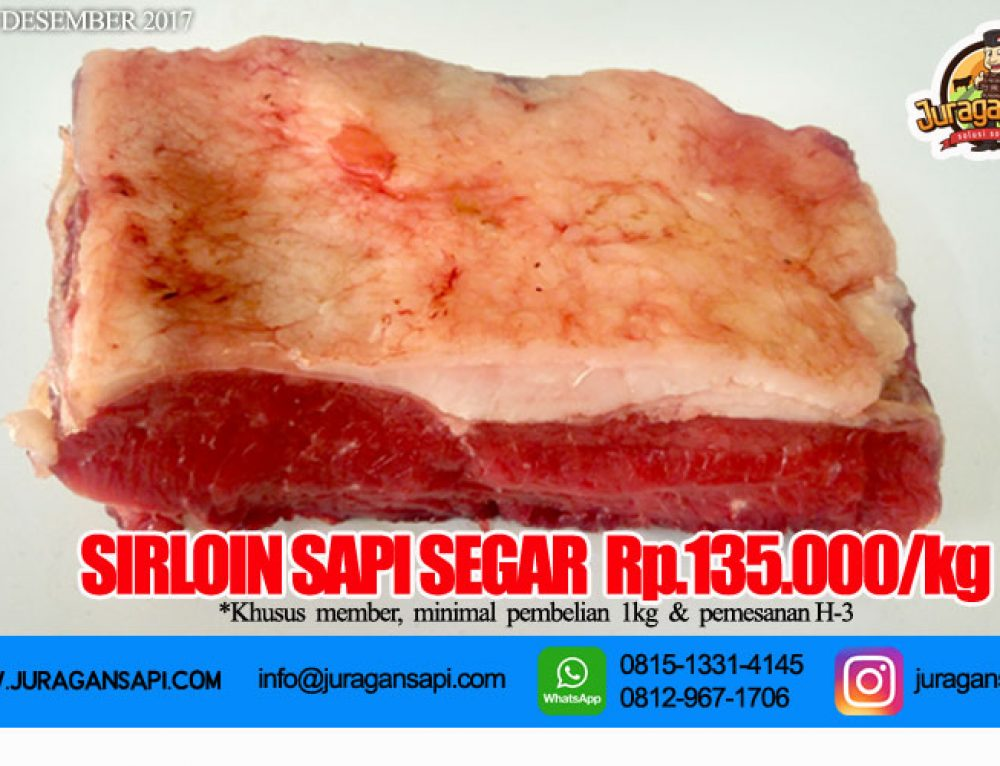 Promo Jual Daging Sapi Sirloin Steak Murah 2018